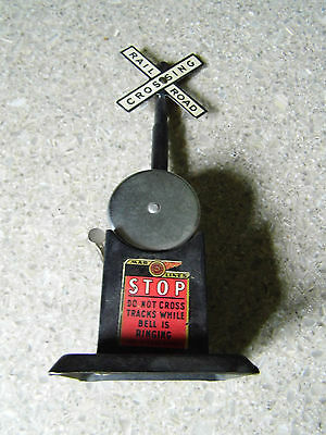 Vintage Marx/Mar Lines Train Railroad crossing signal with bell