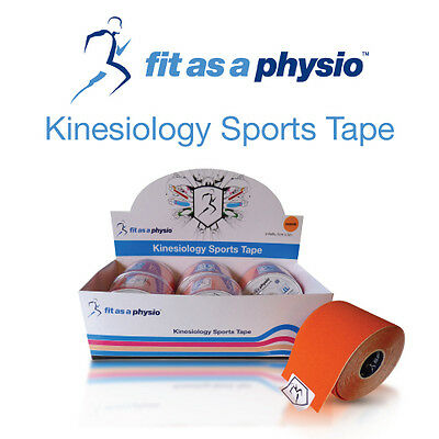 Kinesiology Sports Strapping Tape   6 Orange Rolls