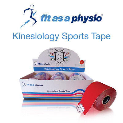 Kinesiology Sports Strapping Tape   6 Red Rolls