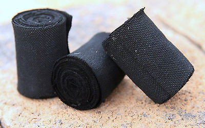 Charcloth char cloth, Fire starter, Bushcraft 12 ft. x 2 in. rated 5-stars!!
