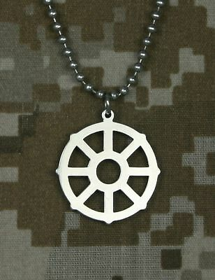 GI JEWELRY, U.S. Military, WHEEL OF LIFE Pendant Necklace, 1st Quality New