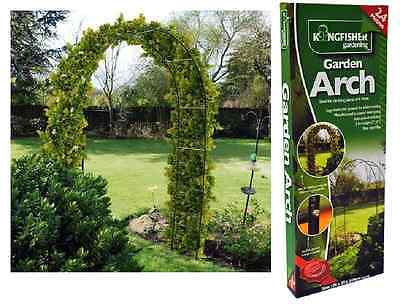 2.4m Metal Garden Arch Strong Tubular Rose Climbing Plants Archway Trellis WARCH