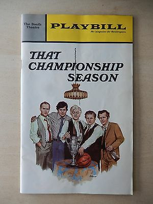 October 1972 - Booth Theatre Playbill w/Ticket - That Championship Season