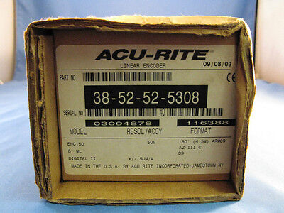 Acu-Rite Linear Encoder 38-52-52-5308 new