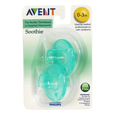 Philips Avent Soothie Pacifier, 0-3 months - 2 each, TEAL or PINK
