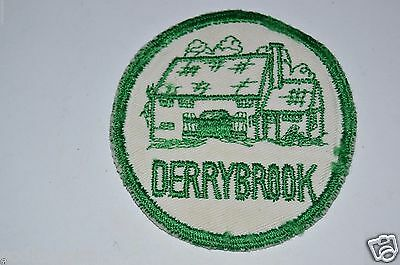 WOW Vintage Green Derrybrook Ireland Camping Jacket Patch Rare