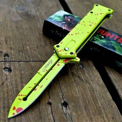 """8"""" ZOMBIE JOKER Spring Assisted Open Blade FOLDING POCKET KNIFE Tactical Switch"""