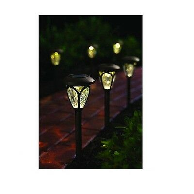 NEW! Hampton Bay Outdoor Solar LED Pathway Light in Bronze (12-Pack)