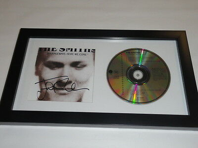 "Johnny Marr Signed Framed The Smiths ""strangeways Here We Come"" Cd Proof"