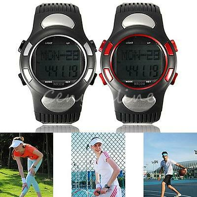 Fitness Sport Watch Digital Pulse Heart Rate Monitor Calorie Counter Pedometer