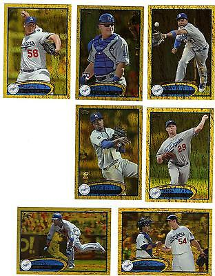 2012 Topps Series 1, Gold Ted Lilly Los Angeles Dodgers #122