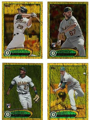 2012 Topps Series 1, Gold Michael Taylor RC Oakland Athletics #36