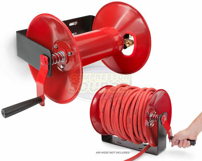 """100' Ft Capacity Hand Crank 3/8"""" Hose Reel High Quality Steel Construction New"""