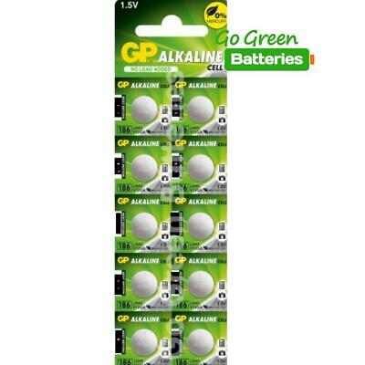 10x GP LR43 1.5 Volt Alkaline Battery LR43, 186, 1176A, 186-1, G12A, GP86A