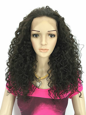 ladies  LACE FRONT FULL WIGS CURLY WIGS COLOUR (2)DARK BROWN JENNIFER