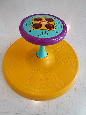 Vintage Playskool Music and Lights Sit N Spin Toy Dated 1973