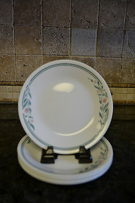 "Corelle RoseMarie Bread & Butter Plates 6-3/4"" Pink Tulip Lot of 6 VGC"