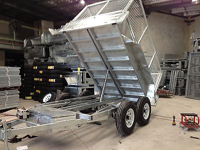 10x6 HYDRAULIC TIPPER 3.5t 4t  TON RATED  BOX GALVANISED TRAILER