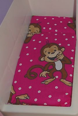 DOLLHOUSE BED MATTRESS for LITTLE TIKES Hot PINK & MONKEY 2ND ITEM SHIPS FREE