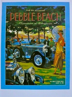 48th Pebble Beach Concours d'Elegance 1998 Poster Print Barry Rowe Minerva