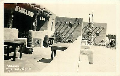 Torrey Pines CA San Diego County Entrance to Torrey Pines LODGE 1920s RPPC