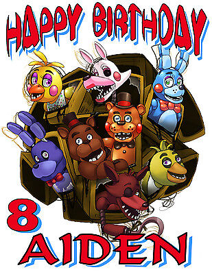 Custom Five Nights At Freddy`s  Birthday T Shirt Party Favor Fnaf Gift #2