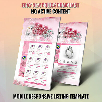 Pink eBay Store Templates & Listing Auction HTML Template - Free Installation