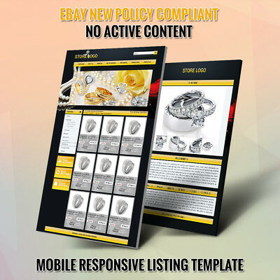 Professional eBay Store & Listing Auction HTML Template For Jewelry Store