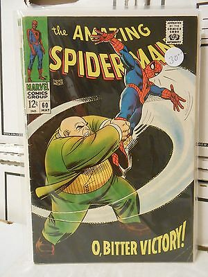 *AMAZING SPIDER-MAN #60! VG CONDITION! KINGPIN! O, BITTER VICTORY! SILVER AGE!