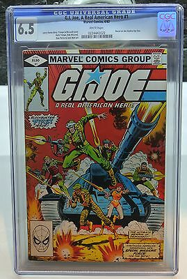 Marvel Comics 1982 G.i. Joe #1 Cgc 6.5 White Pages
