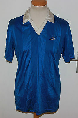 VINTAGE RETRO PUMA 80er TRIKOT  GR 52/L  MADE IN SPAIN 100% NYLON GLANZ
