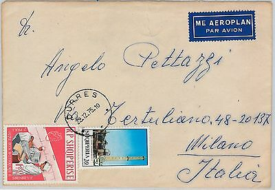 ALBANIA -  POSTAL HISTORY - MICHEL C1460 on COVER to ITALY - VERY RARE !!