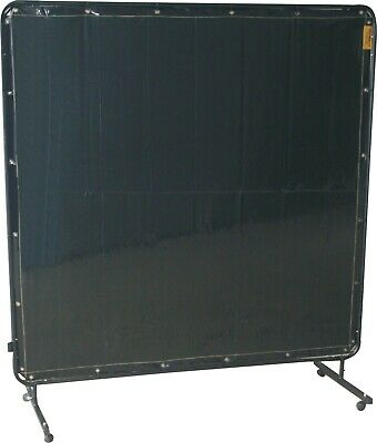 Portable Welding Screen Frame & Curtain 1.8 x 1.8 6ft x 6ft on Castors E86