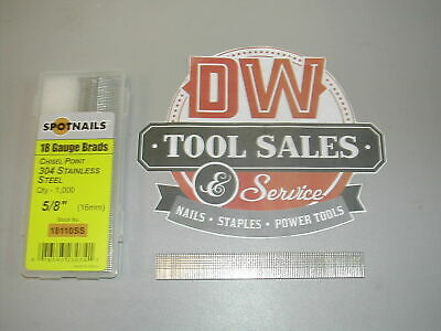 """18 Gauge 5/8"""" Inch Brads Stainless Steel Brad Nails (8,000) 18110SS"""