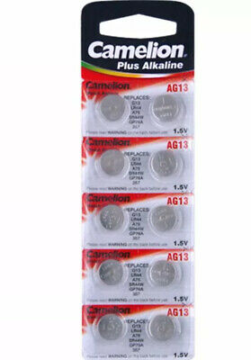 10x LR44 AG13 A76 375 SR44 L1154 ALKALINE BUTTON BATTERY CAMELION BATTERIES 1.5V