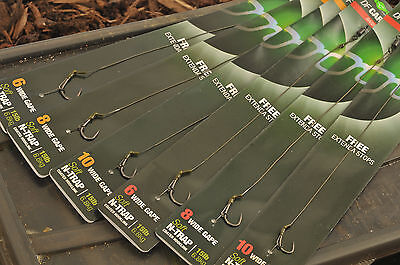 Korda NEW DF Rig Ready Tied Carp Fishing Hair Rigs x5 *All Sizes & Types*