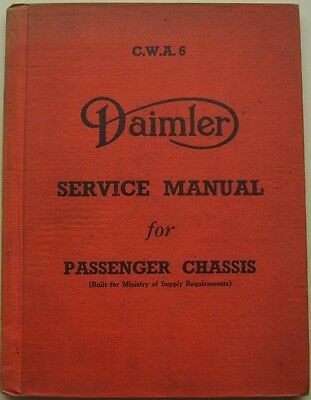 Daimler CWA6 Passenger Chassis Ministry of Supply 1943/4 original Service Manual