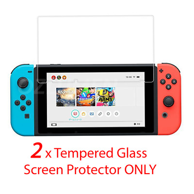 2x Tempered Glass Screen Protector Film Guard for Nintendo Switch Console