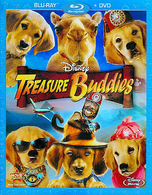 Treasure Buddies (Blu-ray/DVD, 2012, 2-Disc Set) Sealed With Slip Cover