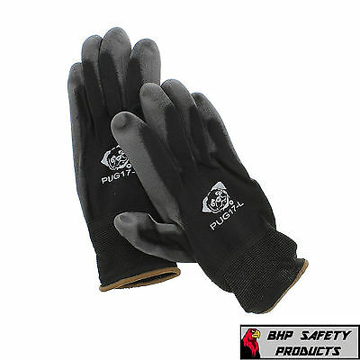 Global Glove Pug Polyurethane Coated Nylon Work Gloves 12 Pair Large (Pug17-L)