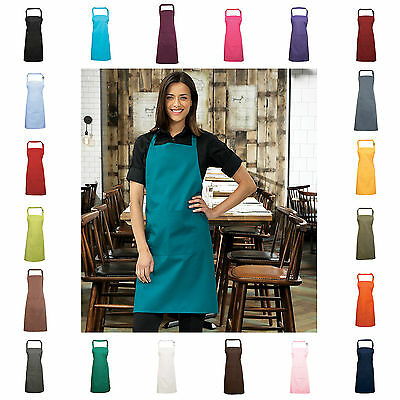 Bib Apron With Pocket Cafe Restaurant Chefs Butchers Kitchen Cooking Baking