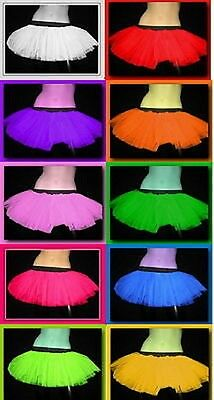 Uv Neon Dance Tutu Skirt Fancy Clubwear Women Halloween Christmas Party USA
