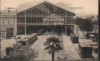Antigua Postal Estacion Del Norte Madrid Lacoste Old Postcard Postkarte  Cc01178