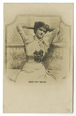 Fay Davis - American Stage Actress - Vintage Glossy Postcard