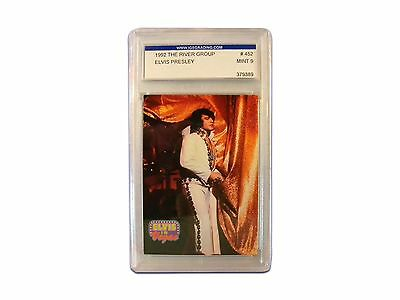 Graded Mint 9 Trading Card of Elvis Presley 1992 River Group Series Collection