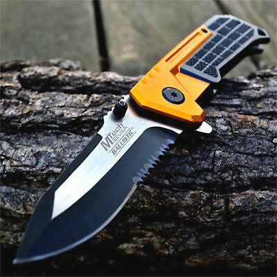 """8"""" M-TECH SPRING ASSISTED OPEN BLADE Folding Pocket Knife Tactical Rescue Switch"""