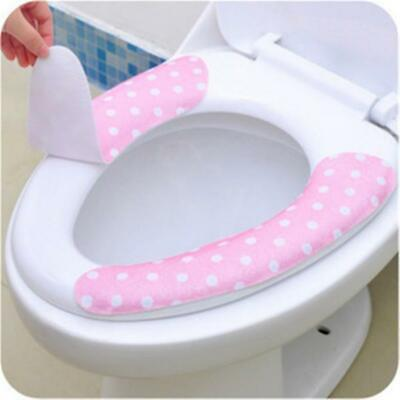 NEW Soft Washable Bathroom Warmer Toilet Closestool Seat Cover Pads PASTE-TYPE H