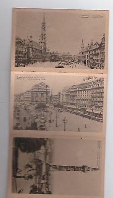 VINTAGE 10 BRUSSELS BLACK AND WHITE POSTCARDS KINGS AND DE BROUCKERES PLACE