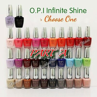 PART A  OPI Infinite Shine 10 Day Nail Polish Lacquer Primer Base Gloss Top Coat