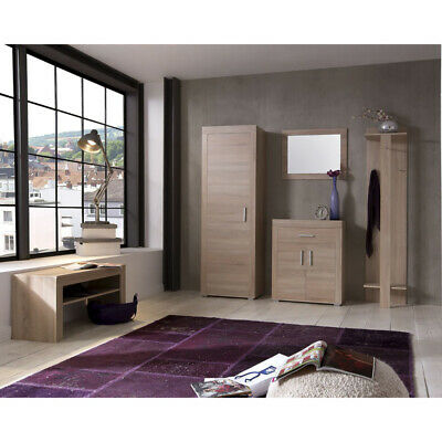neu flur kleiderschrank eiche canyon flurschrank garderobenschrank dielenschrank eur 259 00. Black Bedroom Furniture Sets. Home Design Ideas